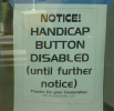 Handicap Button Disabled