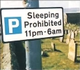 Sleeping Prohibited